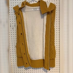Jackets & Coats - Yellow sweater vest